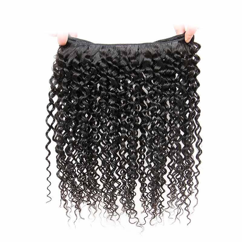 Indian Remy Kinky Curly Human Hair Weave Bundles-4