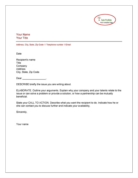 BUSINESS RESOURCES: Sample professional business letter format