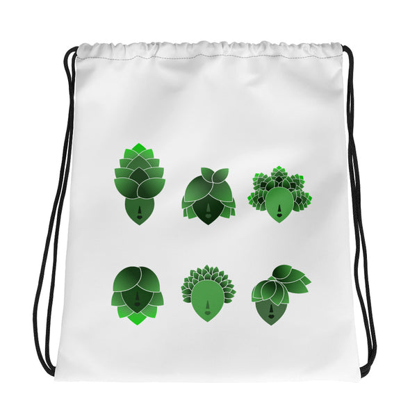 """Hop Heads"" Drawstring bag"