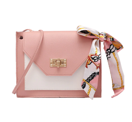 Women's Sling Bag 2020 spring new elegant fashion wild shoulder messenger bag with ribbon casual mobile phone change bag handbag