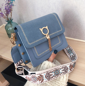 Vintage PU Leather Bags Bag Unique Fringe Cat Lock Famous Designer Women's Handbags Purses 2020 NEW Women Shoulder Crossbody Bag
