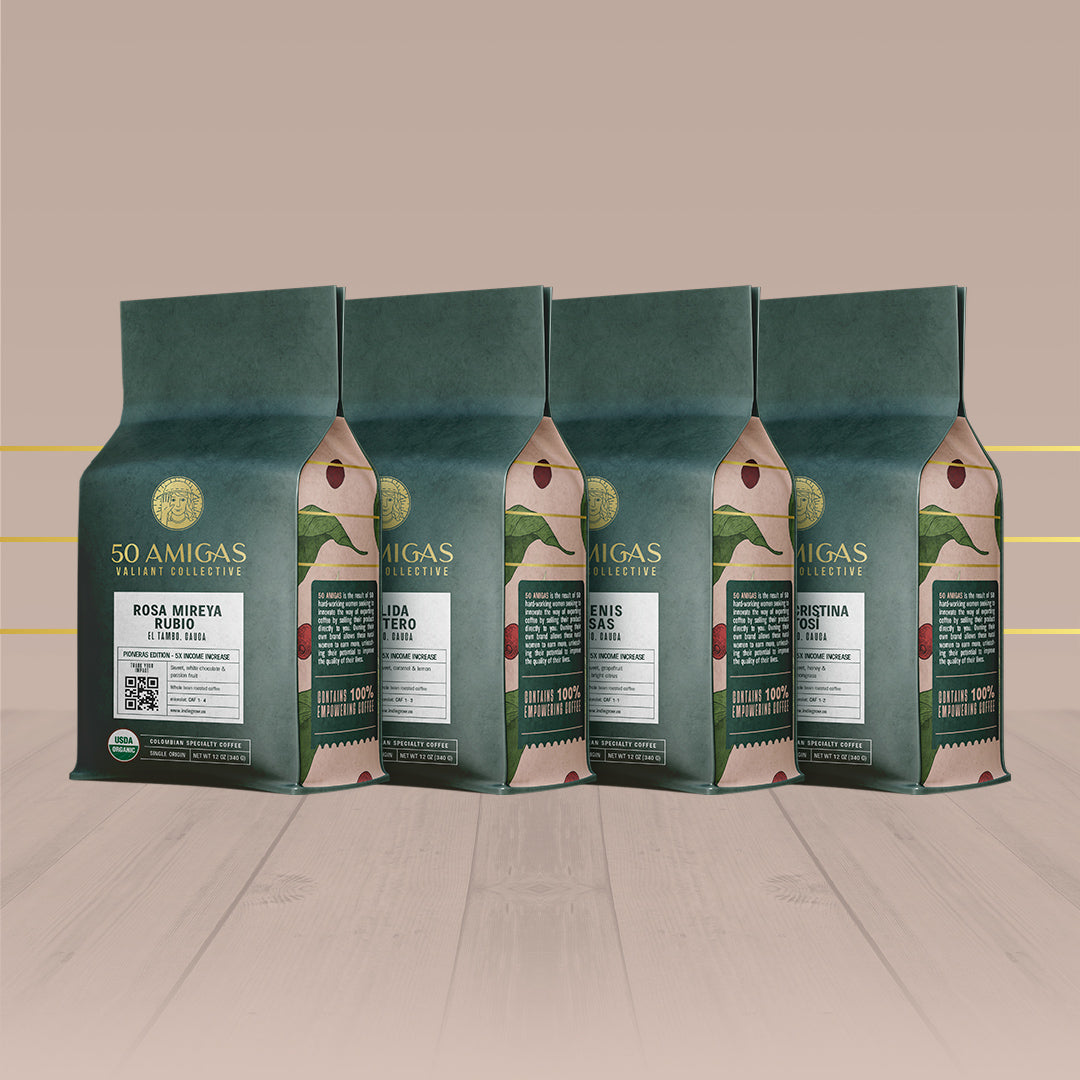 50 Amigas Pioneras Edition | Organic | Single Origin | Pack of 4 (48oz)