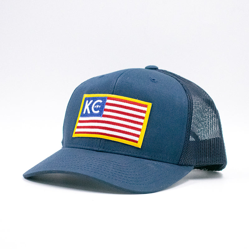 US of KC Flag Retro Trucker