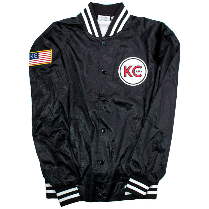 KC ICON Satin Button-Up Jacket