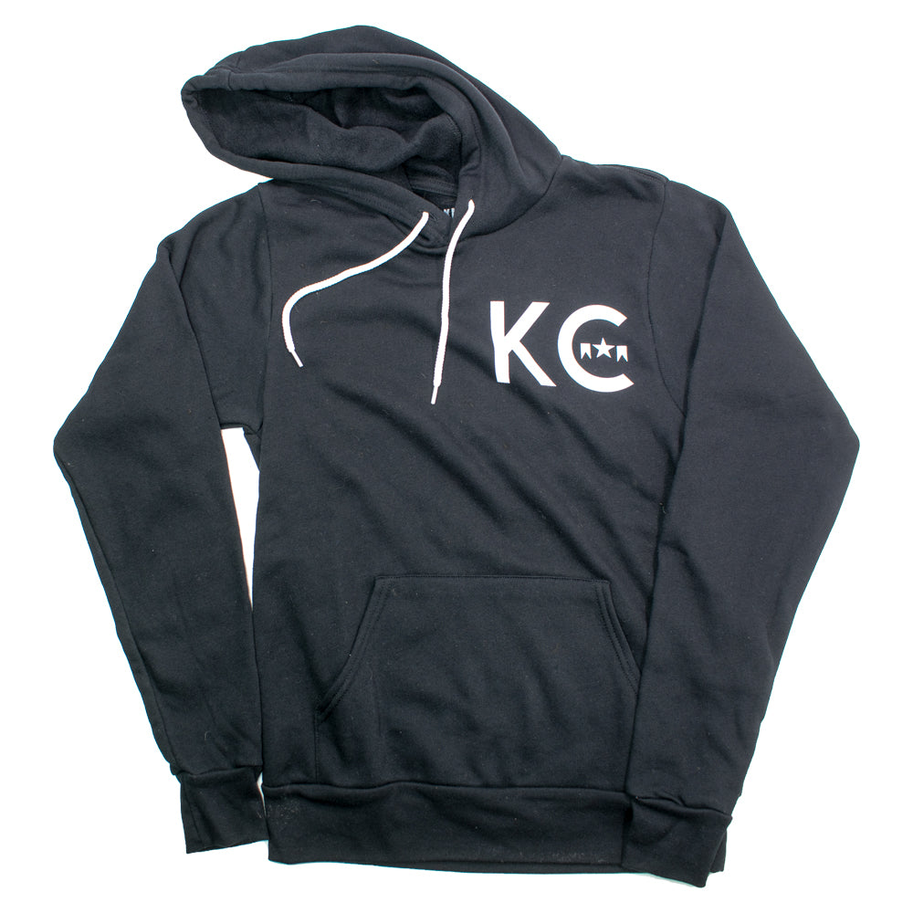 Black KC ICON Hooded Fleece