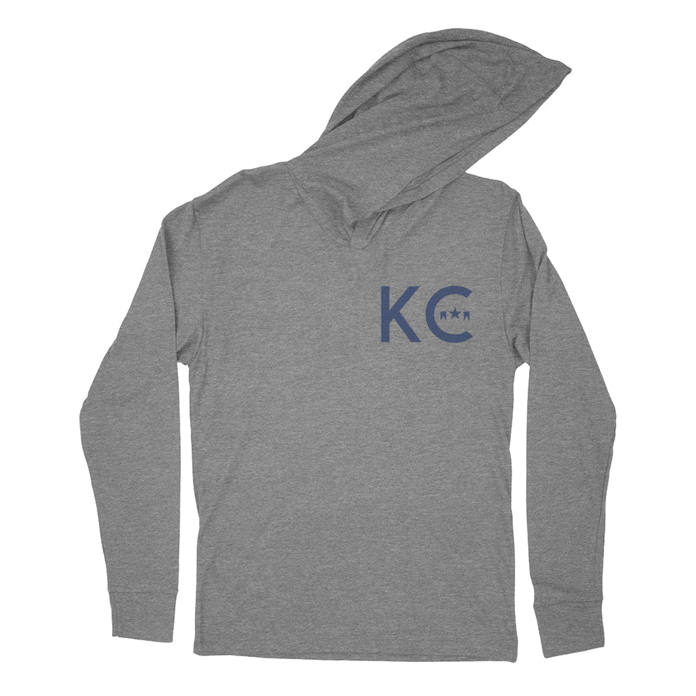 Grey KC Icon Hooded Long Sleeve T-Shirt