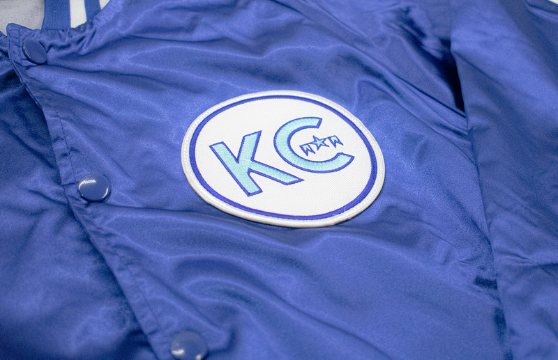 KC ICON Vintage Satin Button-Up Jacket