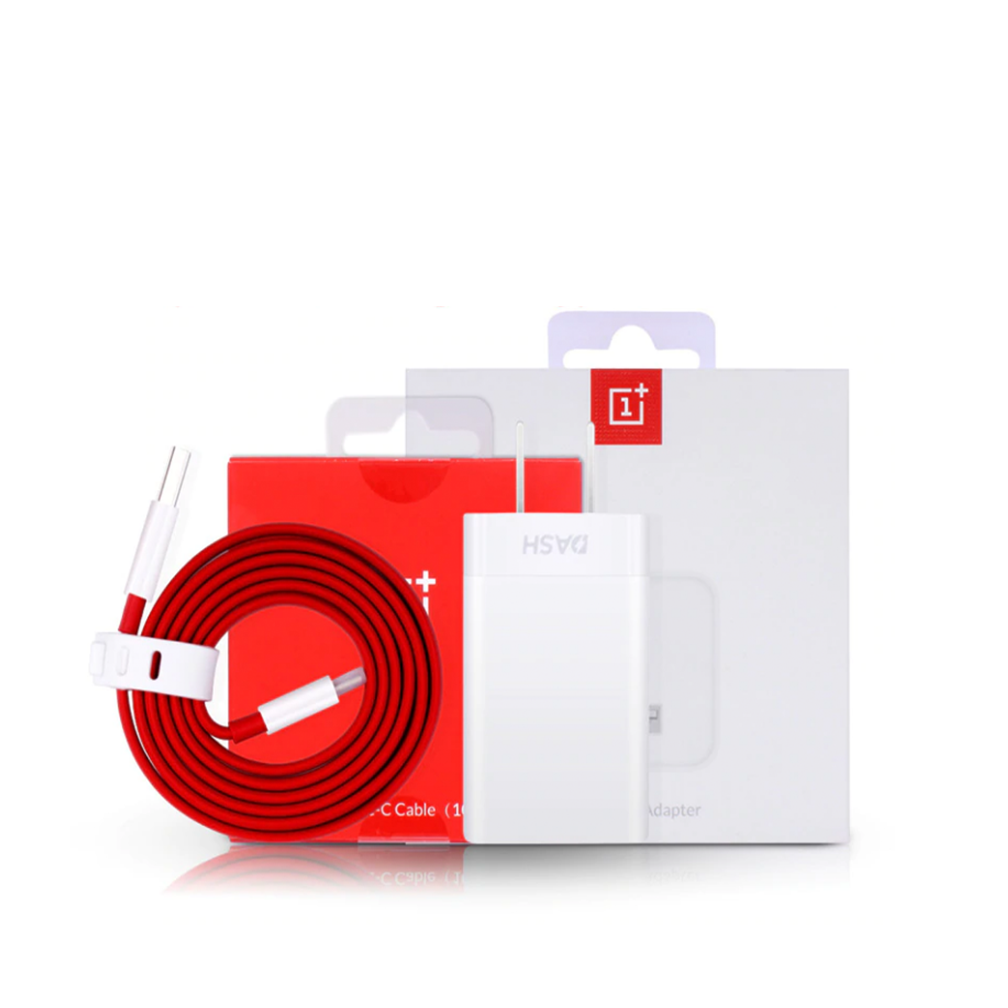 Mobile Accessories - Oneplus Official Dash Charger Power Adaptor USB Charging Adapter + Type Charger Cable