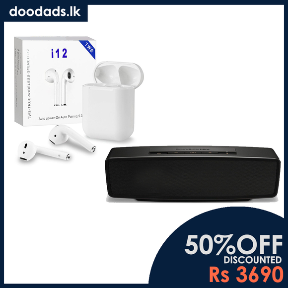 COMBO PACK - COMBO PACK - 2 IN 1 COMBO Bluetooth Speaker & Wireless Earphone
