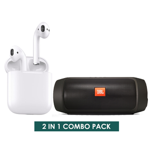 2 IN 1 COMBO PACK 1 - Bluetooth Speaker & Wireless Earphone i12s