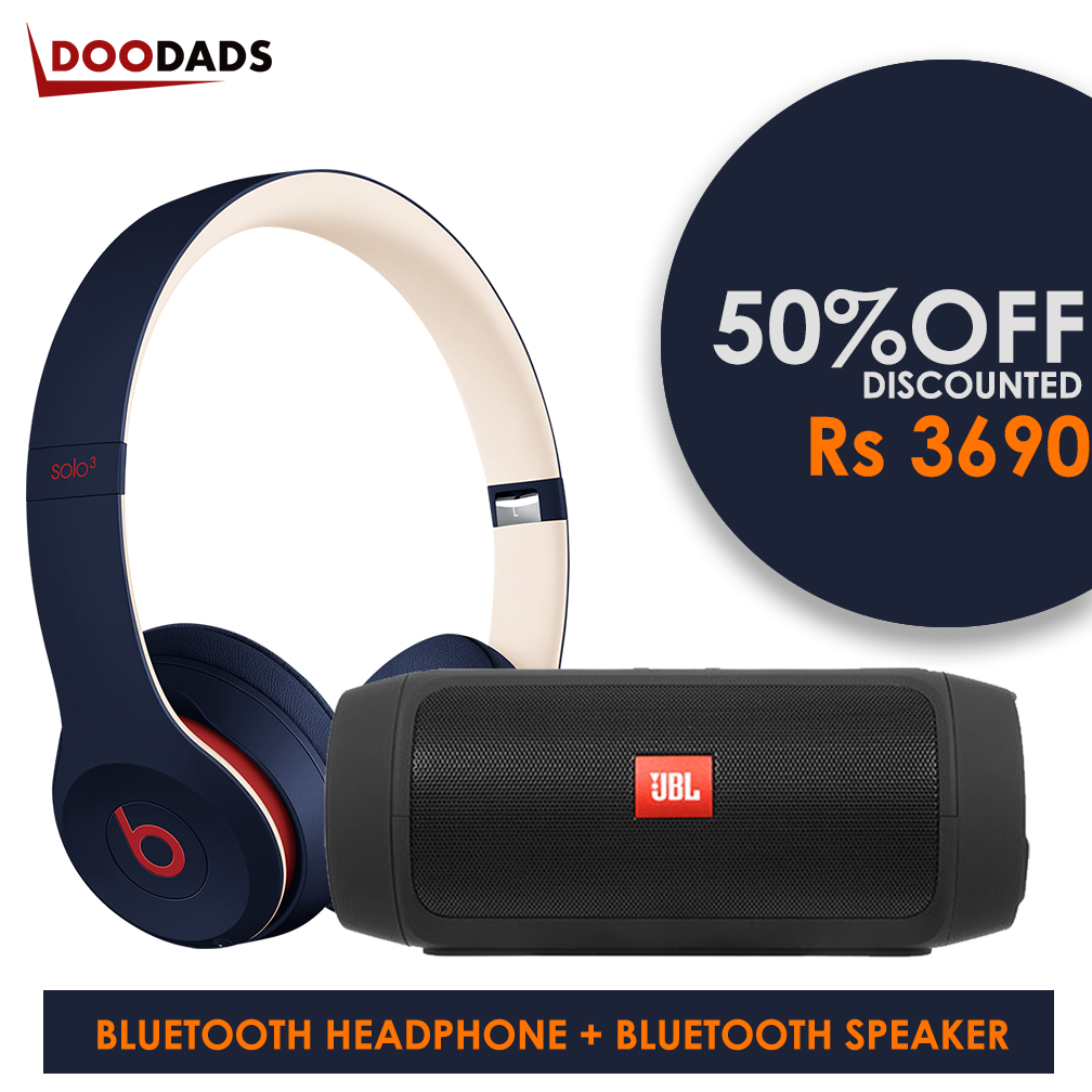 COMBO PACK - 2 IN 1 COMBO - Bluetooth Headphone & Bluetooth Speaker