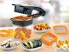 Home & Kitchen Appliance - 5 in 1 Dicer Fruit Vegetable Cutter Nicer Dicer Quick Stainless Steel Chopper