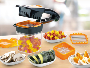 Kitchen Appliance - 5 in 1 Dicer Fruit Vegetable Cutter Nicer Dicer Quick Stainless Steel Chopper