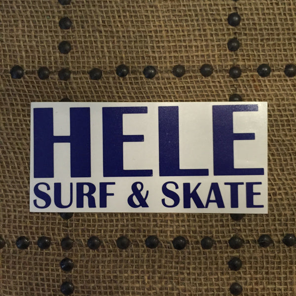 Hele Surf and Skate Stickers (Large)