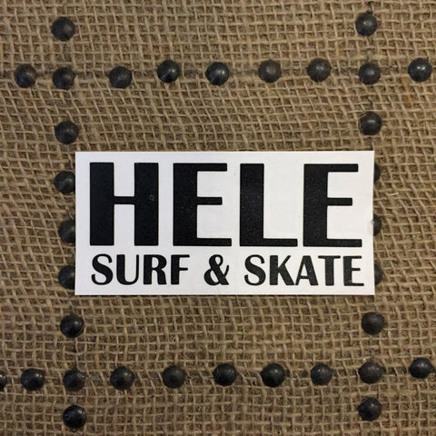 Hele Surf and Skate Stickers (Small)