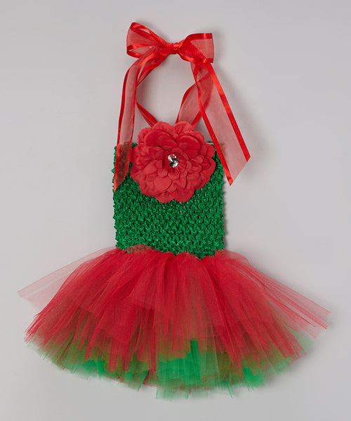 Christmas Red and Green Tutu Dress