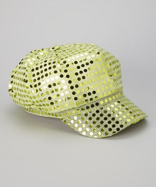 Sequin Diva Hat in Lime