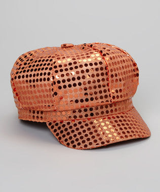 Sequin Diva Hat in Orange