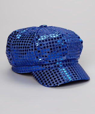 Sequin Diva Hat in Royal Blue