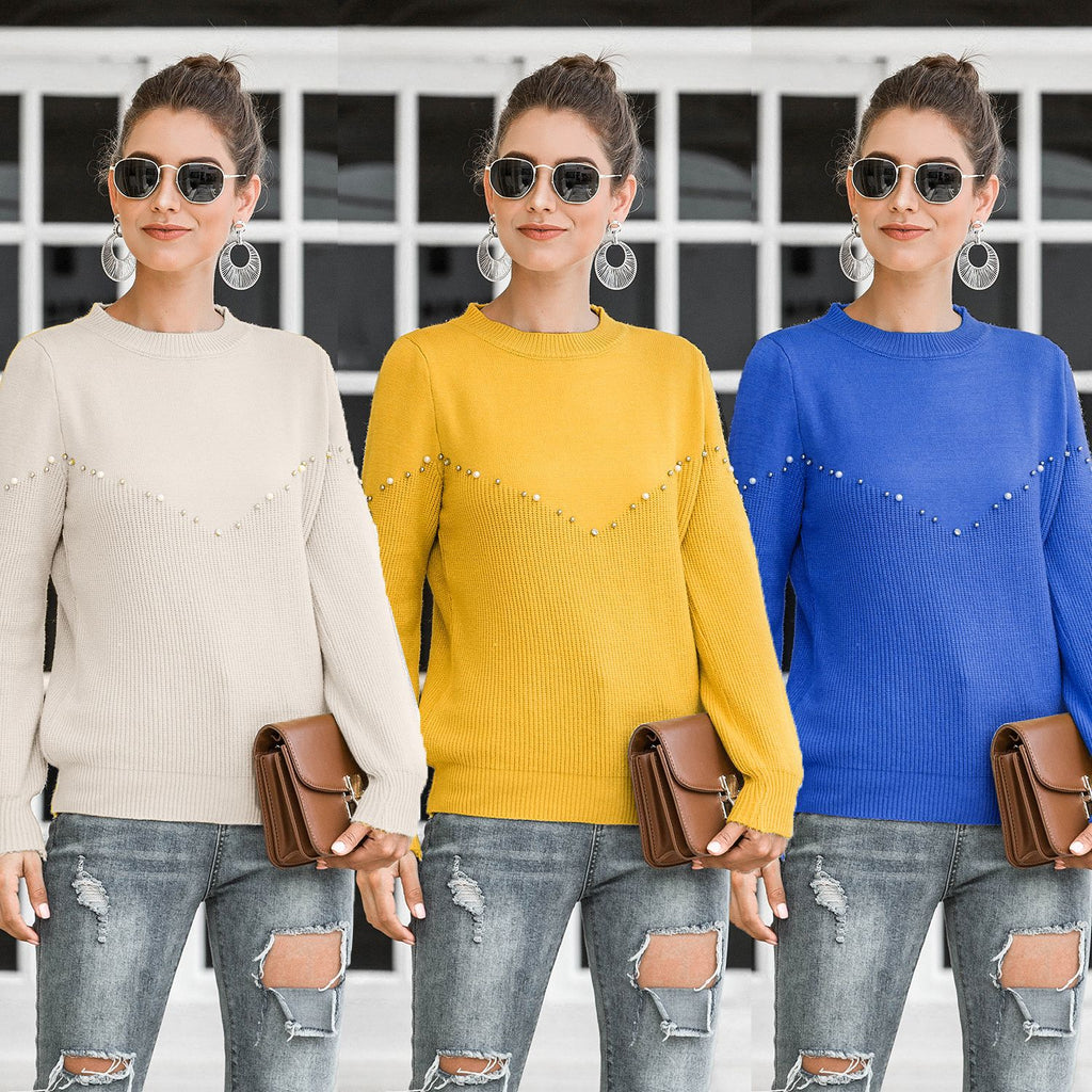 Madam clothing OWLPRINCESS Women's 2020 Autumn New Fashion Casual Pullover Lantern Sleeve Sweater Sweater