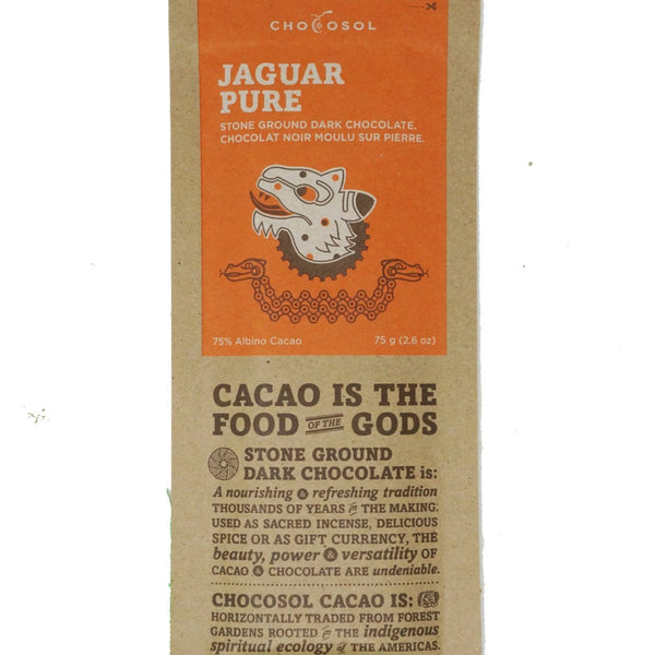 Jaguar Pure - 75% Albino Cacao Dark Chocolate