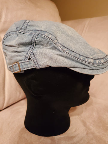 Light Denim Newsboy Hat