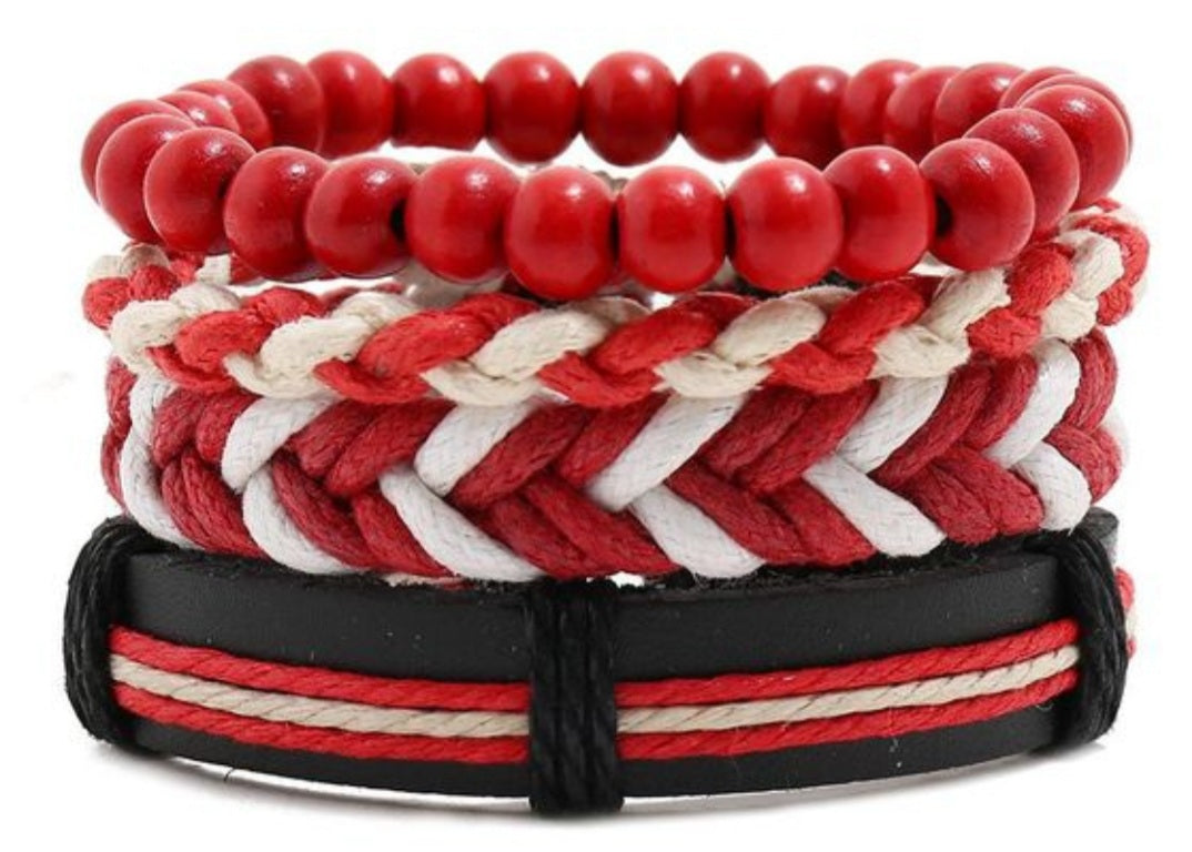 Red and White combination bracelets