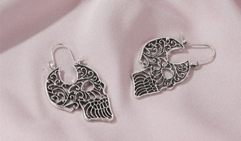 Carved Skull earrings