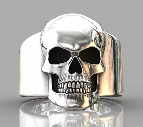 Big Face skull ring
