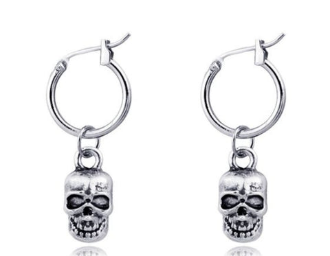 UNISEX Mini Skull hoop earrings