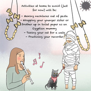 Don't walk your cat, and other advice for a kid worrying about Coronavirus - E-BOOK