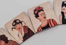 Load image into Gallery viewer, Iconic Women Timber Tile Memory Game