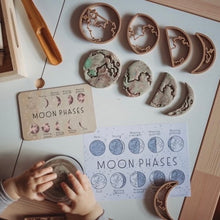 Load image into Gallery viewer, MOON PHASE PACK - TIMBER TILE, COLOUR IN CARD PLUS ECO CUTTER ™