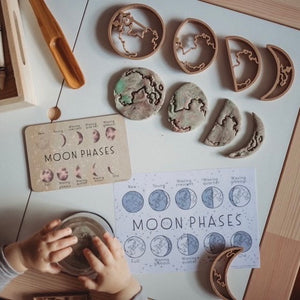 MOON PHASE PACK - TIMBER TILE, COLOUR IN CARD PLUS ECO CUTTER ™