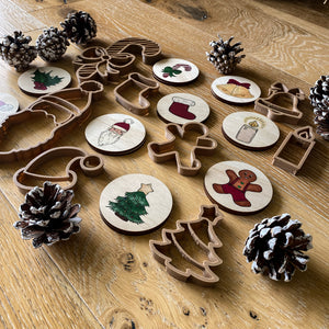 Timber Matching Pairs Christmas Theme