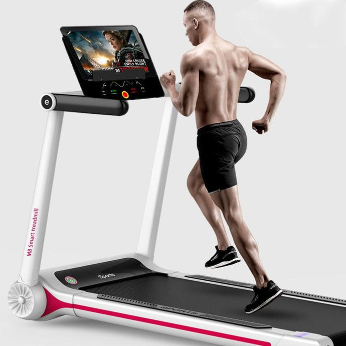 Folding Working Treadmill for home Small Electric Treadmill Mute Shockproof Mini Treadmill Wide Run Belt Smart sport machine Fire Gym