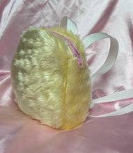 Load image into Gallery viewer, Mini fluffy backpack - Pastel yellow
