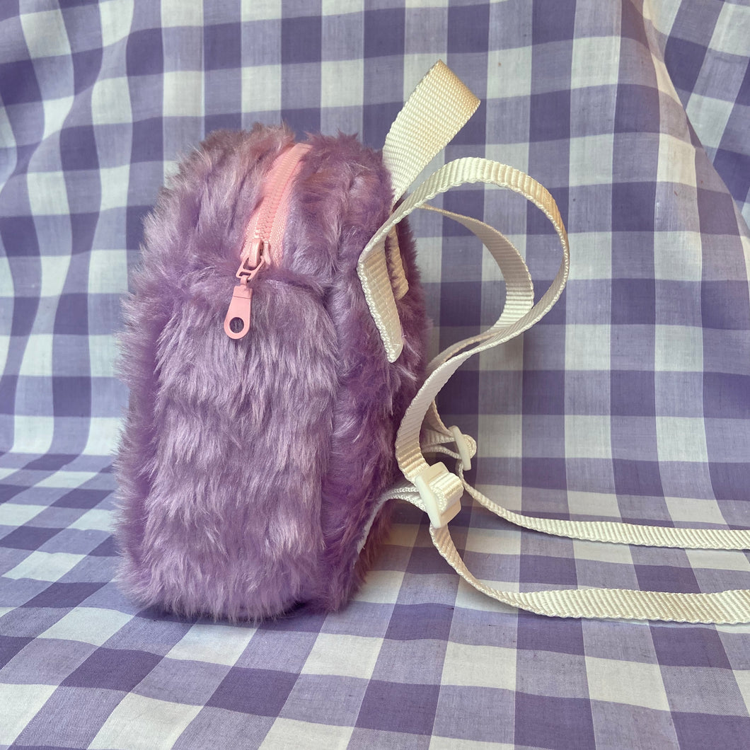 Mini fluffy backpack - Lilac