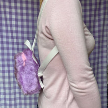 Load image into Gallery viewer, Mini fluffy backpack - Lilac