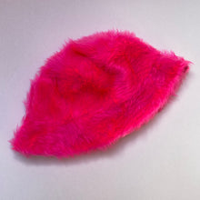 Load image into Gallery viewer, Fluffy bucket hat - Neon pink
