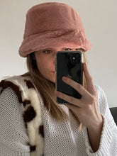 Load image into Gallery viewer, Dusky pink super soft fluffy bucket hat