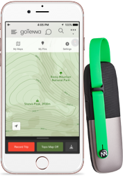 goTenna plus app and goTenna device