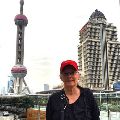 cityscape of shanghai with goTenna user Kristy