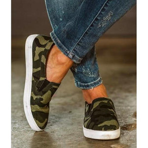 Camouflaged Slip on Sneaker - RTS