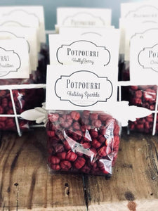 Essential Oil Christmas Scented Red Potpourri