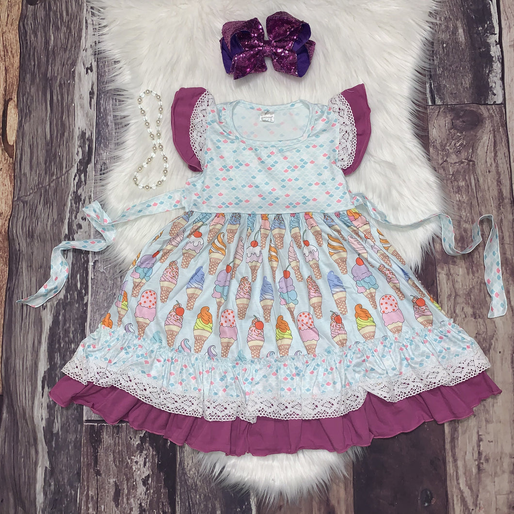 I Scream Ice Cream Dress With Tie