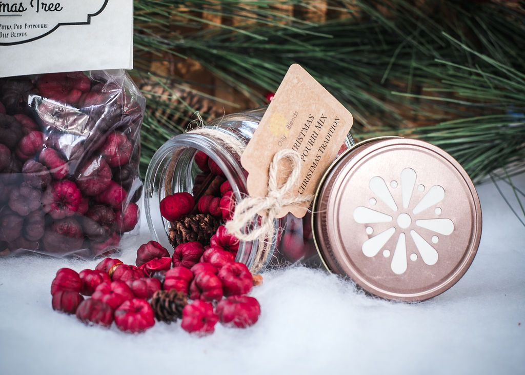 Christmas Red Potpourri Jars