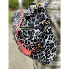 Load image into Gallery viewer, Back Pack with Guitar Strap - White Leopard - RTS