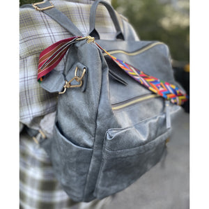 Back Pack with Guitar Strap - Gray - RTS