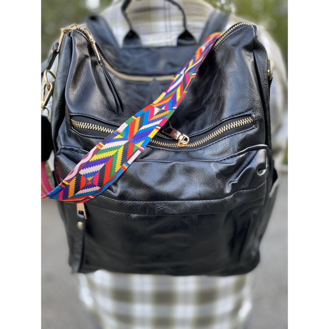 Back Pack with Guitar Strap - Black - RTS
